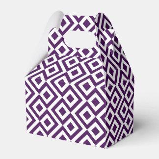 Geometric Purple and White Meander Favor Box