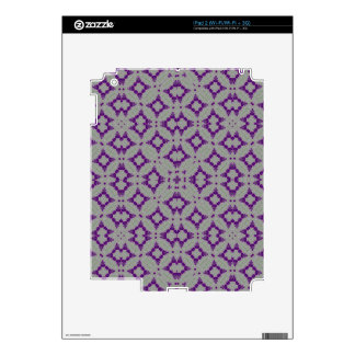 Geometric Purple Pattern Decals For iPad 2