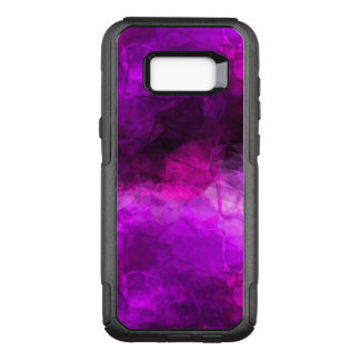 Geometric Purples Abstract Pattern OtterBox Commuter Samsung Galaxy S8+ Case