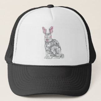 Geometric Rabbit Trucker Hat