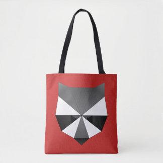 Geometric Raccoon Face Tote Bag