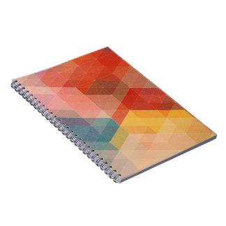 Geometric Rainbow Notebook