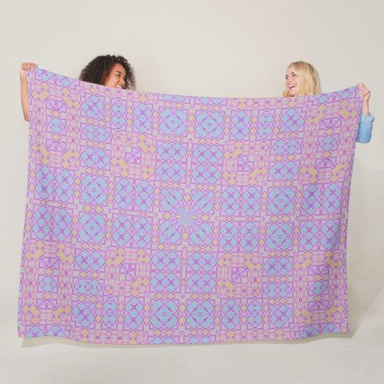 Geometric Rainbow Plush Foulard Pattern Fleece Blanket