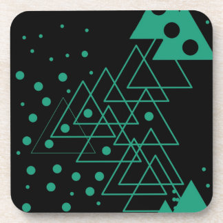 geometric random design drink coaster