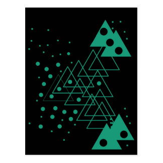 geometric random design postcard