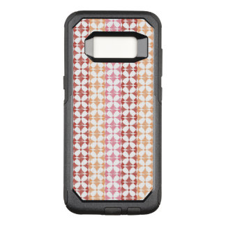 Geometric red ikat stripes pattern OtterBox commuter samsung galaxy s8 case