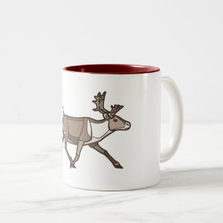 Geometric Reindeer Two-Tone Coffee Mug