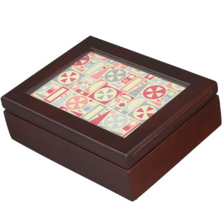 Geometric Retro 1950s Midcentury Modern Pink Keepsake Boxes