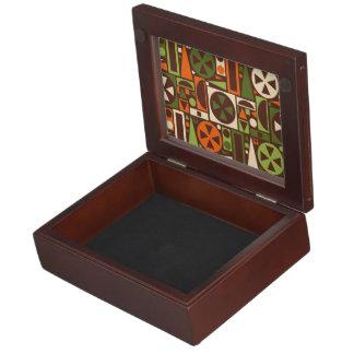 Geometric Retro 50s Mid-Century Modern Abstract Keepsake Box
