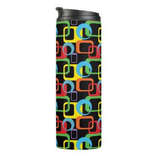 Geometric Retro Multicolored Pattern Thermal Tumbler