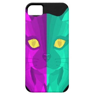 Geometric Retro Second Cat Design iPhone 5 Cover