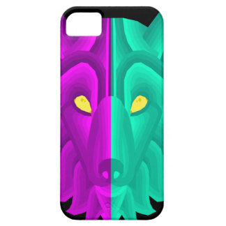 Geometric Retro Wolf Design Barely There iPhone 5 Case