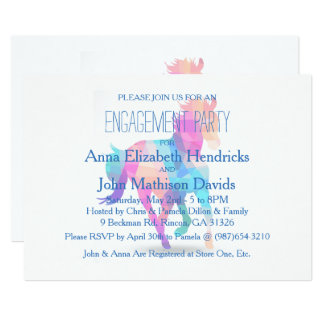 Geometric Running Horse Engagement Party Invite