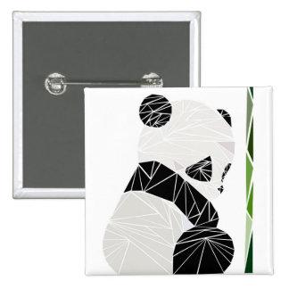 Geometric sad panda 15 cm square badge