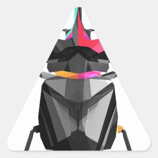 Geometric Scarab Triangle Sticker