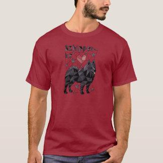 Geometric Schipperke T-Shirt