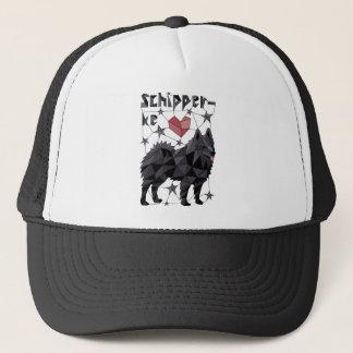 Geometric Schipperke Trucker Hat