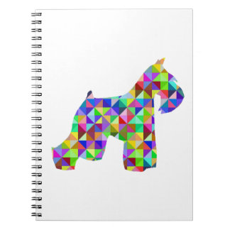 Geometric Schnauzer Notebooks