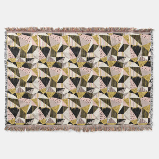Geometric seamless glitter pattern Throw Blanket