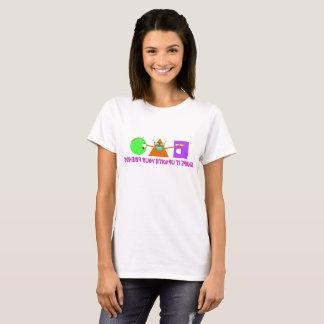 Geometric Shape Characters Give Encouragement T-Shirt