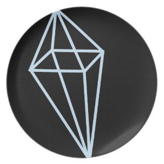 Geometric Shape Plate (Light Blue)