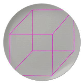 Geometric Shape Plate (Pink)