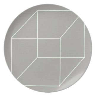 Geometric Shape Plate (White)