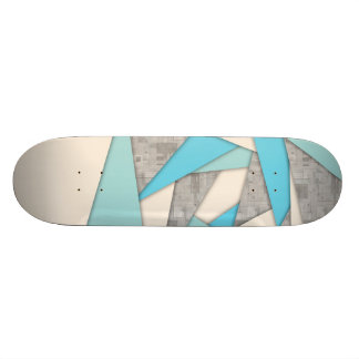Geometric Shapes Abstract 19.7 Cm Skateboard Deck