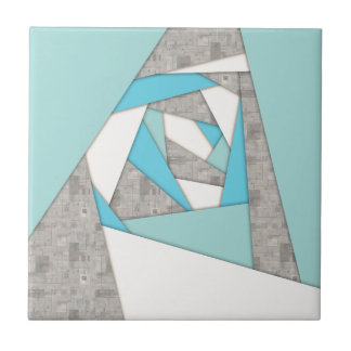 Geometric Shapes Abstract Small Square Tile