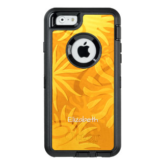 geometric shapes abstract suns orange gold OtterBox defender iPhone case