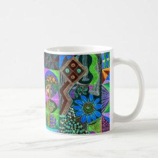 Geometric Shapes Collage Coffee Mug