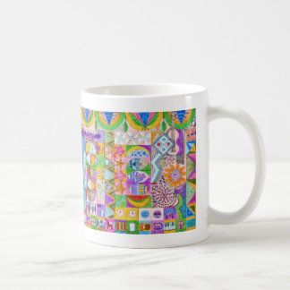Geometric Shapes Collage Coffee Mug