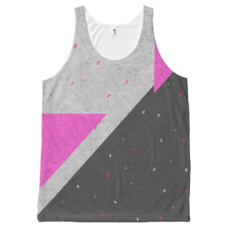 Geometric Shapes Pattern All-Over Print Tank Top