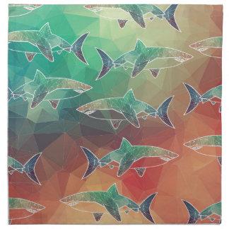 Geometric Sharks Napkin