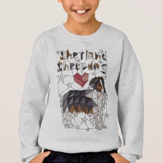 Geometric Shetland Sheepdog Sweatshirt