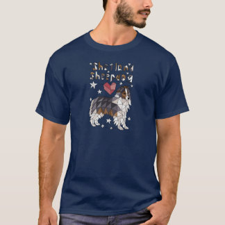Geometric Shetland Sheepdog T-Shirt