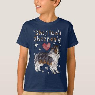 Geometric Shetland Sheepdog T-Shirt