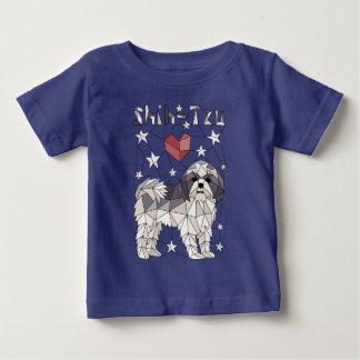 Geometric Shih Tzu Baby T-Shirt