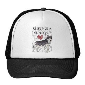 Geometric Siberian Husky Cap