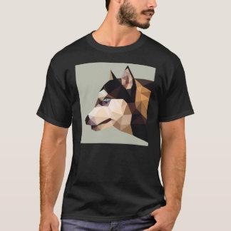 Geometric siberian husky T-Shirt