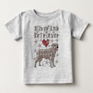 Geometric Silver Lab Retriever Baby T-Shirt