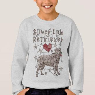 Geometric Silver Lab Retriever Sweatshirt