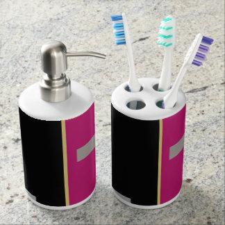 Geometric Soap Dispenser And Toothbrush Holder