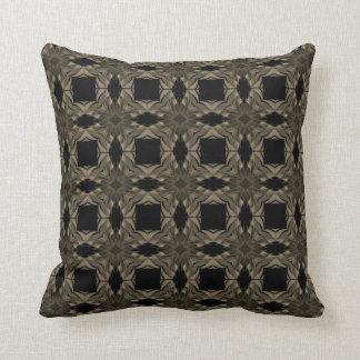 Geometric Sofa Pillow Black and Gold