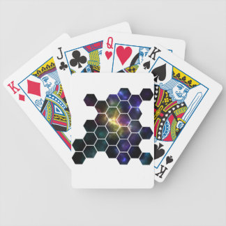 geometric space bicycle playing cards