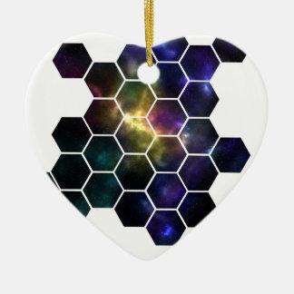 geometric space ceramic ornament