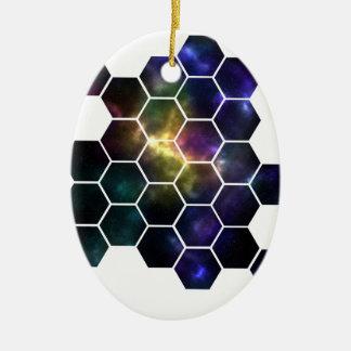 geometric space ceramic oval decoration