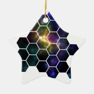 geometric space ceramic star decoration