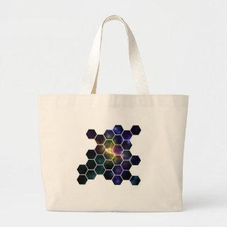 geometric space large tote bag