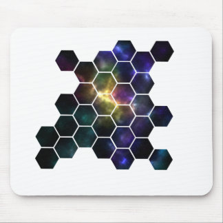 geometric space mouse pad